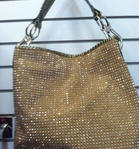 Gold purse with bling