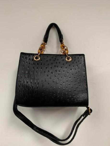 Black Alligator Handbag