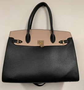 Black Cream Lock purse