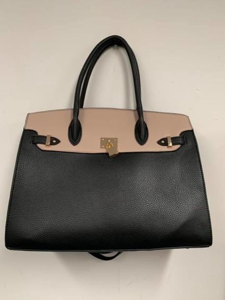 Black Cream Lock purse