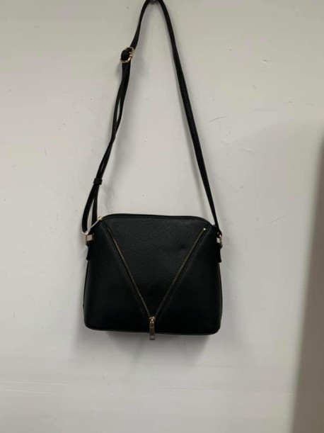 Black zipper purse
