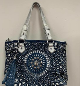 Blue and Gray Sparkle Tote