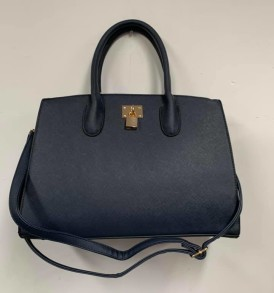 Blue with lock purse