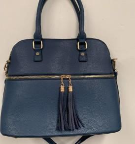 Blue with tassels handbag