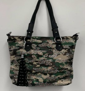 Camoflauge sparkle tote