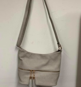 Cream tassell purse