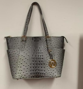 Gray Alligator Tote