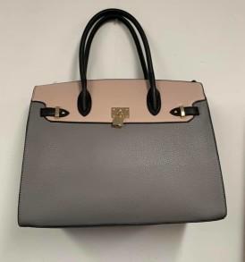 Gray Cream lock purse