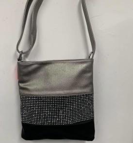 Gray Sparkle Black Purse