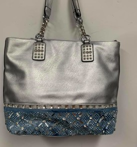 Gray and Blue Sparkle purse