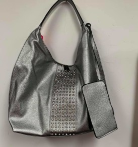 Gray carryall with change