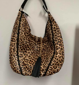 Leopard with Tassell purse
