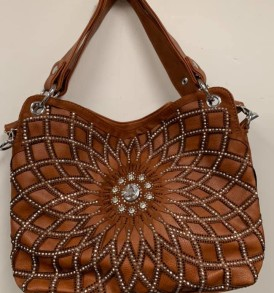 Lt Brown Sparkle Purse