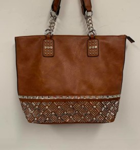 Lt. Brown sparkle tote