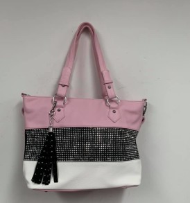 Lt. Pink Sparkle White bag