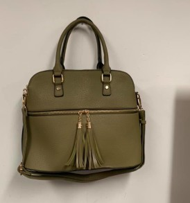 Olive green tassells purse