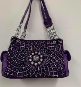 Purple Rhinestone Concealed