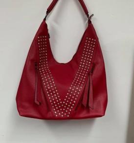 Red Sparkle V purse