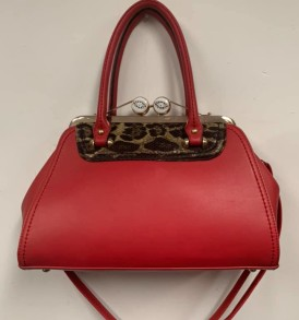 Red with Leopard hanbag
