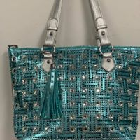Rhinestone Teal purse