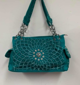 Turquoise sparkle concealed