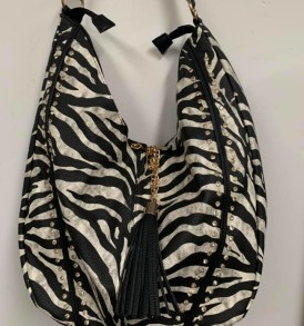Zebra tassell purse